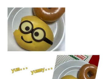【可愛くて食べれない?!クリスピークリームドーナツのミニオンドーナツ!】