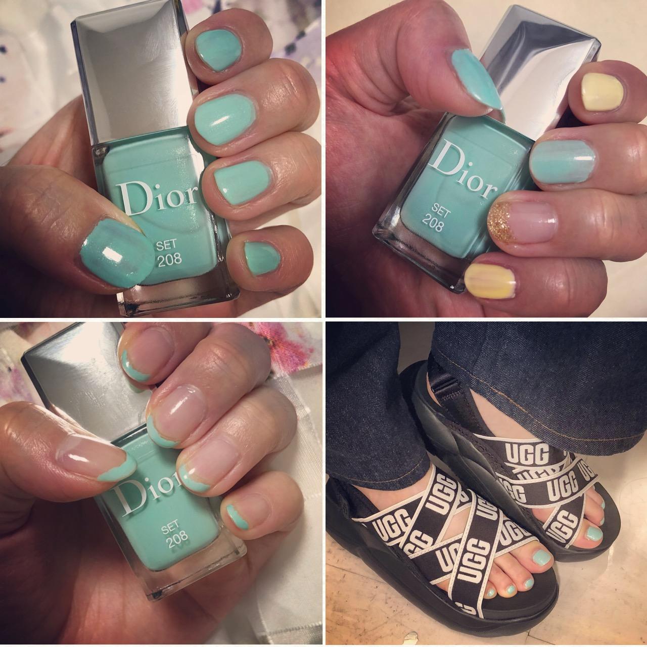 【夏ネイル・マニキュア】「Dior」2020夏限定色が爽やかキレイネイルがフットにもハンドにも大活躍中♡ <デパコス>_2