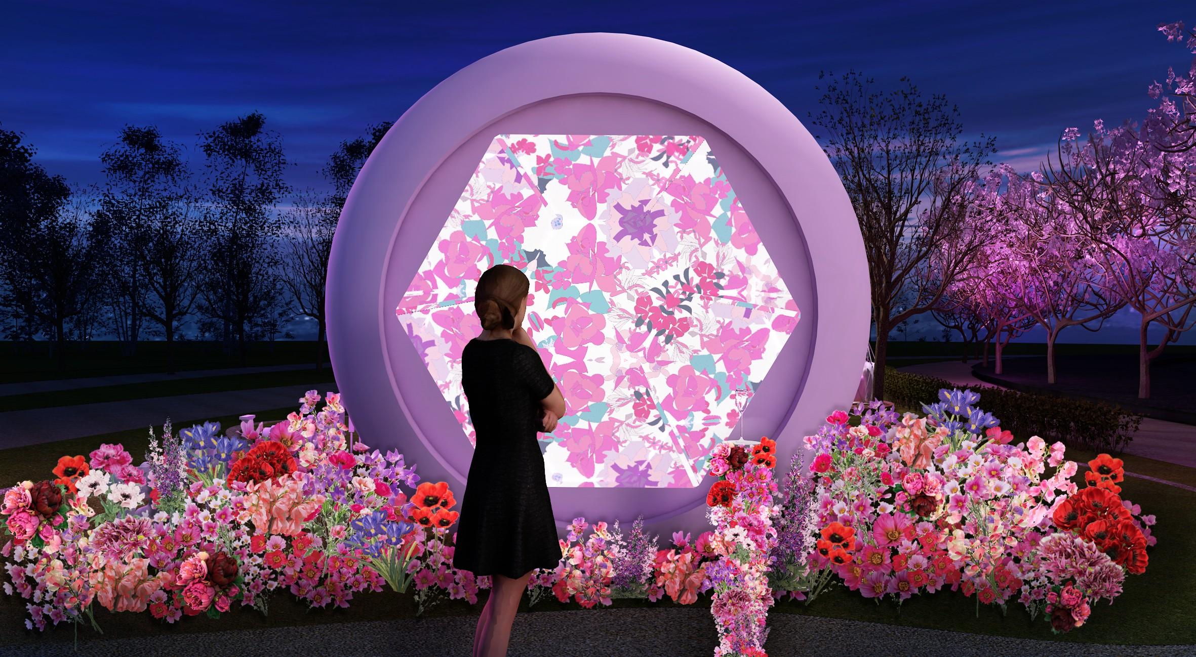 巨大なボトルはなんと万華鏡♡ 『東京ミッドタウン』の可愛すぎる桜イベント「CHANDON Blossom Lounge」【#桜 2019 9】_3