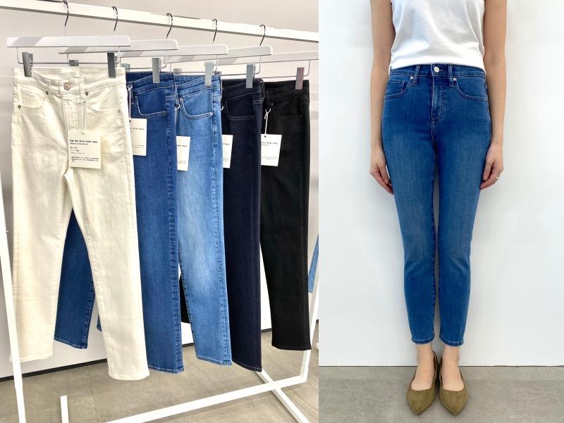 『ユニクロ』のジーンズ全種類はき比べ! スカート風、美脚見え、腰ばき…春はどのシルエットでいく?_7