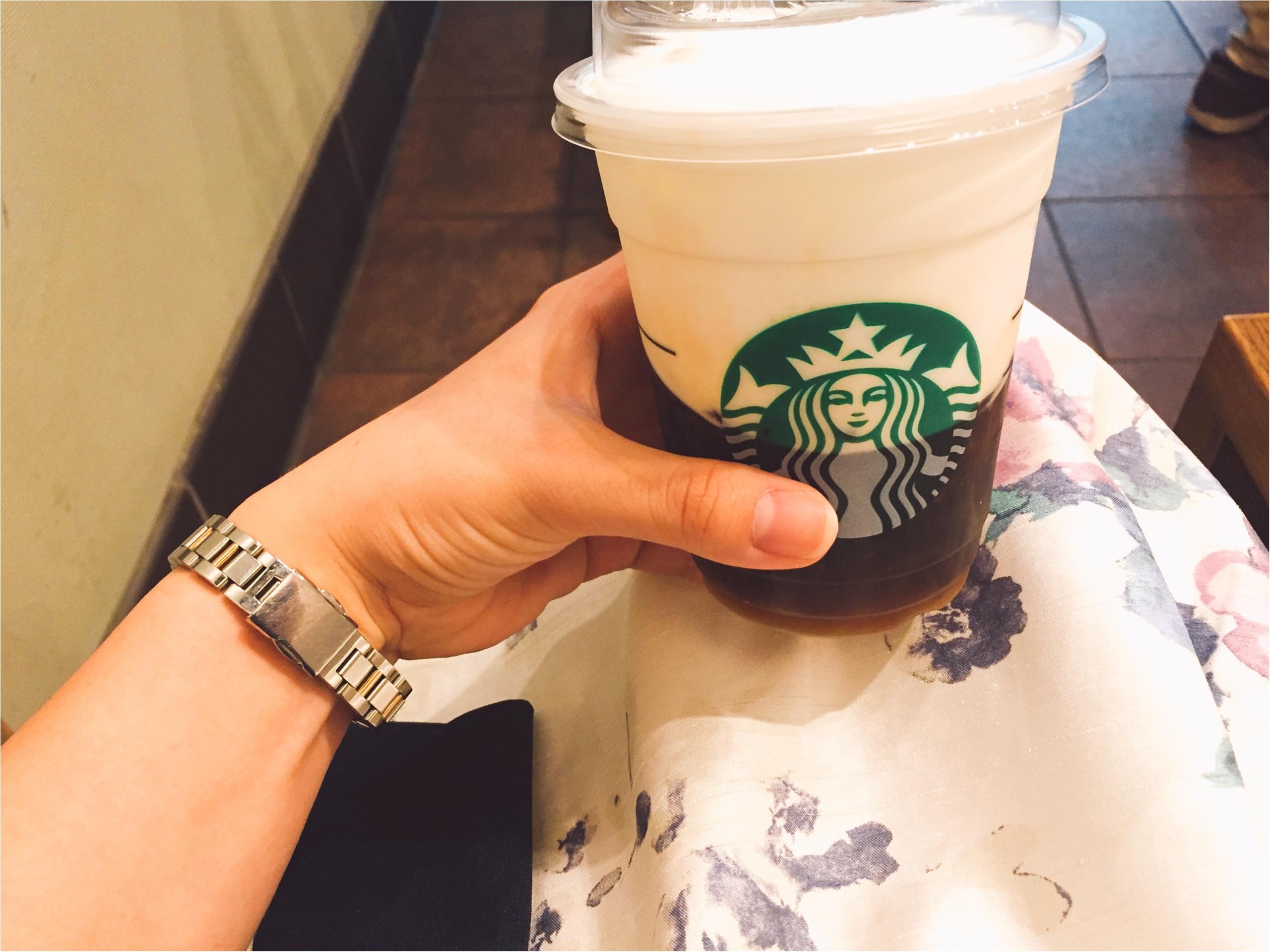 【スタバ】ブラック派でも楽しめるアレンジコーヒー!コールドブリュー ムース フォーム ヘーゼルナッツ☆_2