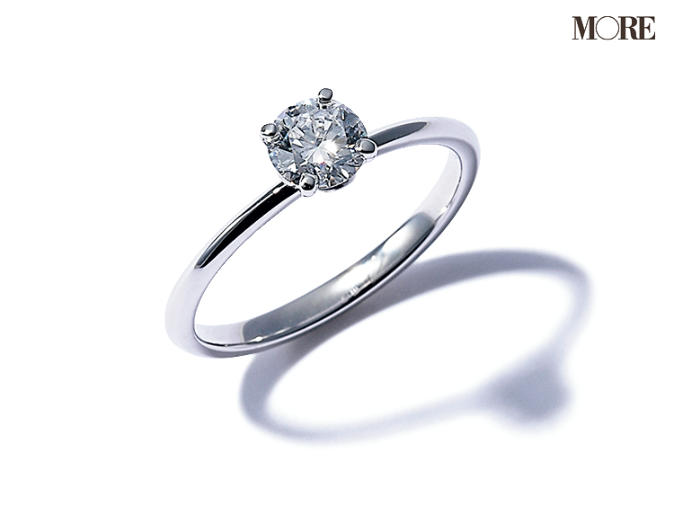 ティファニーのエンゲージメントリング ダイヤモンドのついた婚約指輪