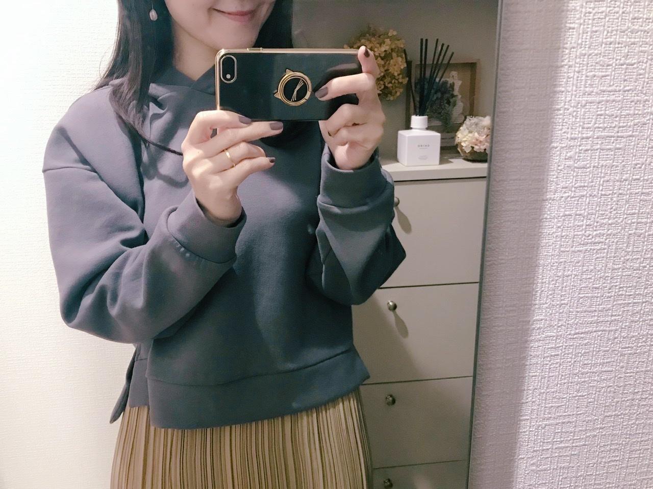 【GU】今だけ1490円!春まで使える♡優秀パーカーをイロチ買い♩_2