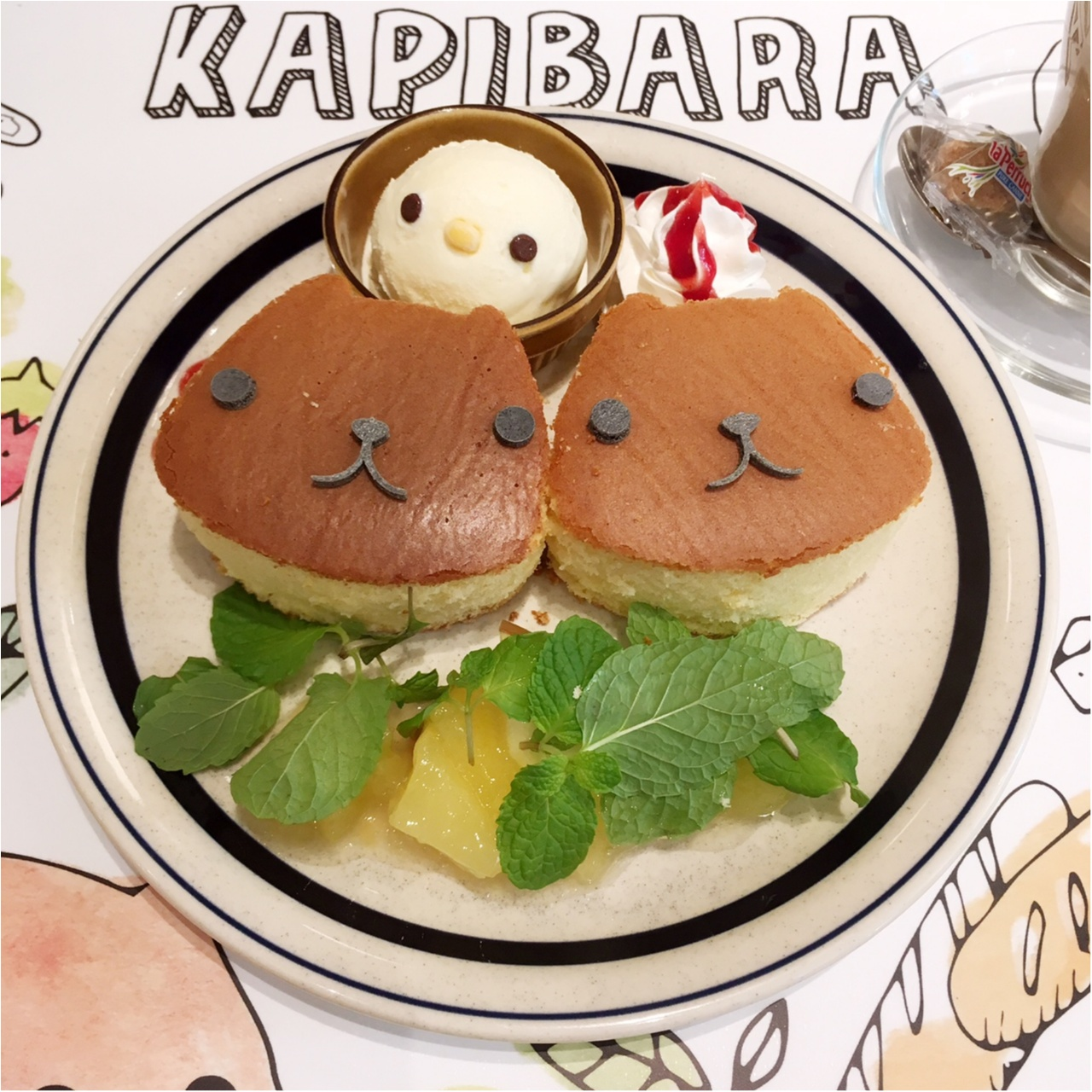 """""""大人カピバラさん""""がテーマの『KAPIBARASAN×HANDS CAFE』 に行ってきました♡_5"""