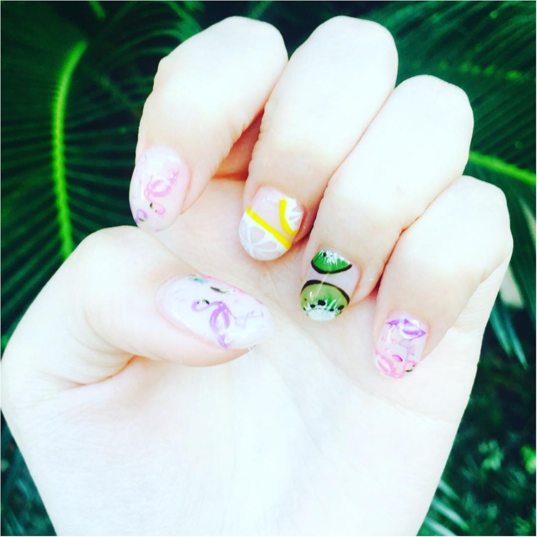[8月ネイル]フルーツ&フラミンゴ 夏ネイルしてきました!_1