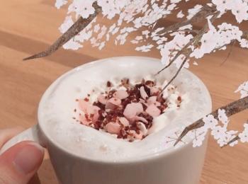 スタバ新作♡さくらシリーズ第一弾、さくらミルクラテがめちゃくちゃ美味しい♡♡♡
