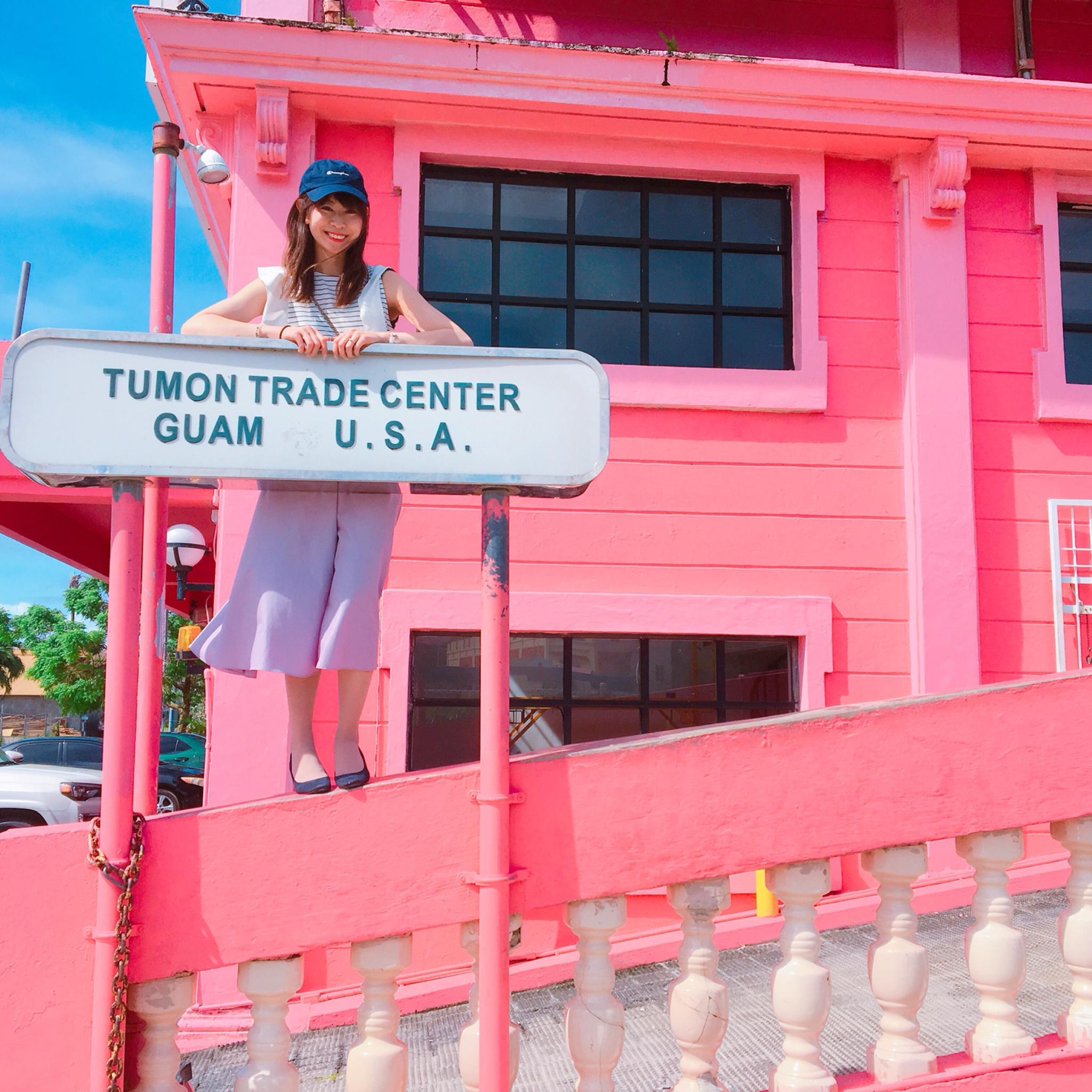 インスタで話題の「ピンクの壁」!グアムで写真映えするタモントレードセンターがオススメスポットです♡_2