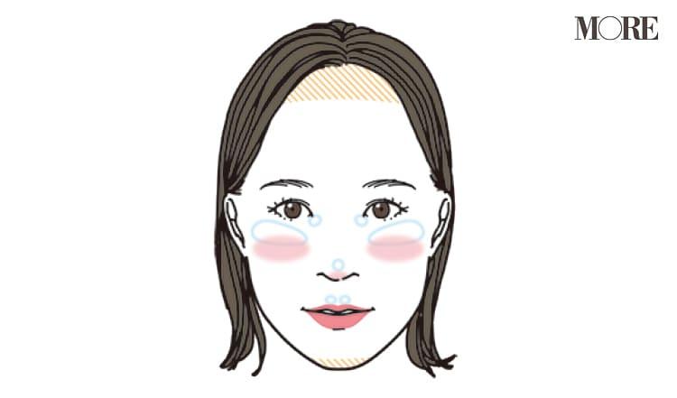 チークの入れ方【2020最新】- 顔型別の塗り方、リップと合わせる春の旬顔メイク方法まとめ_11