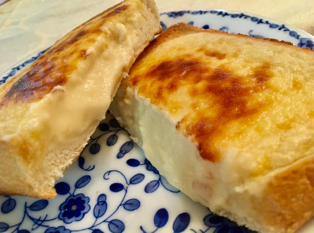 時短!簡単♡家事ヤロウでバズったバスクチーズケーキトースト!_1