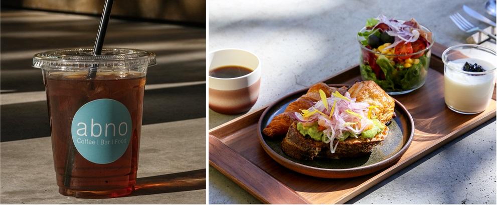 東京おしゃれホテルDDD HOTELの朝食とCafe & Bar abnoのアイスコーヒー