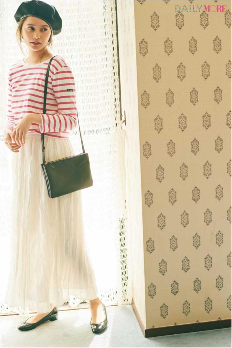 【今日のコーデ】今日は母の日。真っ白なプリーツスカートが主役のマリンコーデで実家へGO♪_1