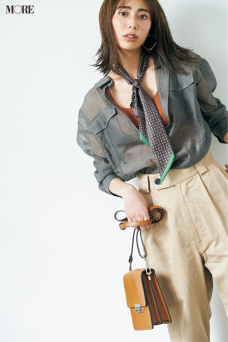 秋もシアーシャツを素敵に着るには? MOREが7つのアイデアをご提案 PhotoGallery_1_8