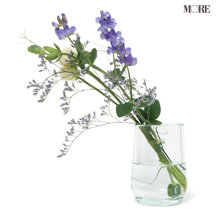 スタイリスト来住さんおすすめの花瓶に入ったお花
