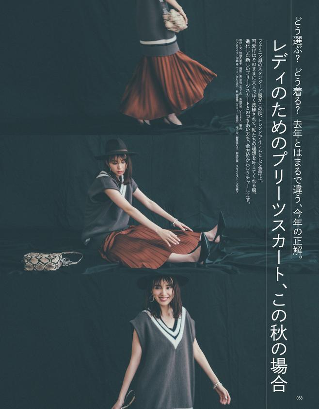 レディのためのプリーツスカート、この秋の場合(1)