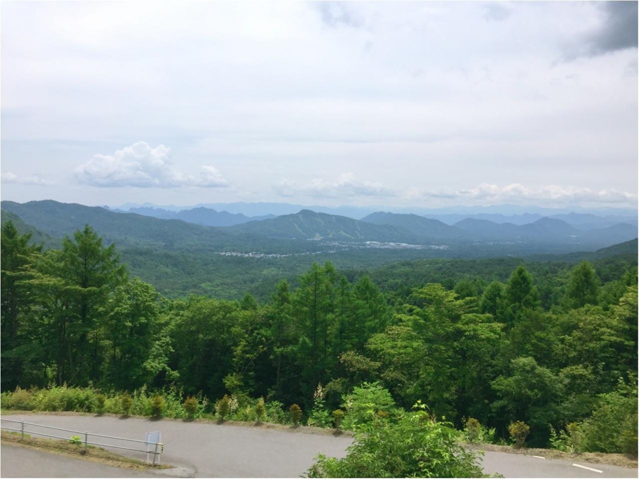 軽井沢の景色を一望するなら!まるで山の中に浮かぶような『天空カフェ・アウラ』へ!!_3