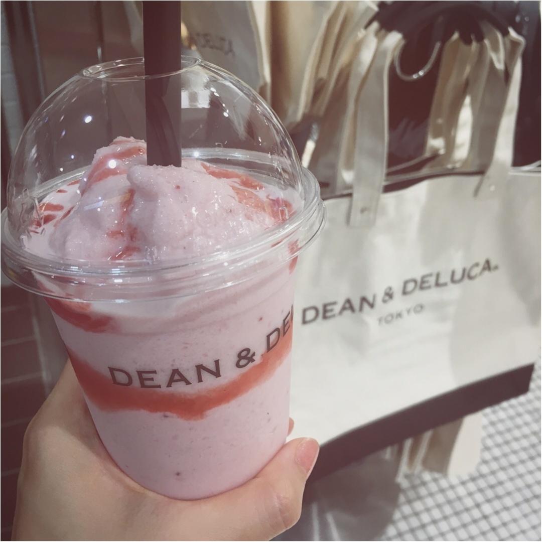 夏の定番!見た目もかわいい❤︎《ピンクドリンク》【DEAN&DELUCA】のストロベリーフラッペがおいしい☝︎❤️_1