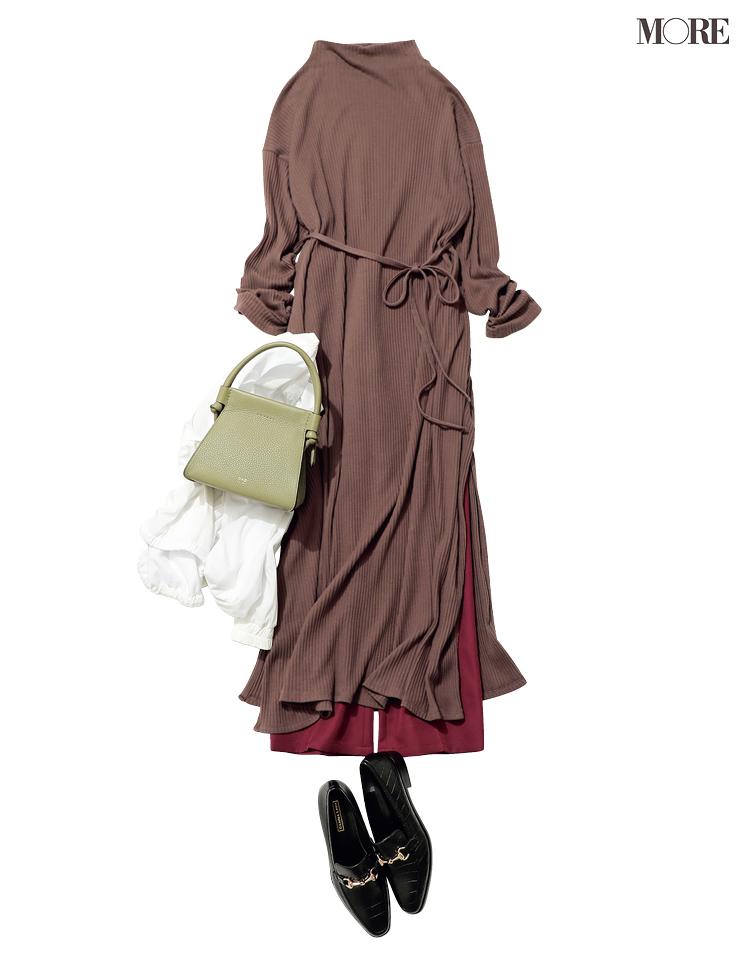 """カットソーワンピースをオンの日に着るなら、""""小物""""と""""レイヤード""""に気をつけてきれいめシフトへ!_3"""