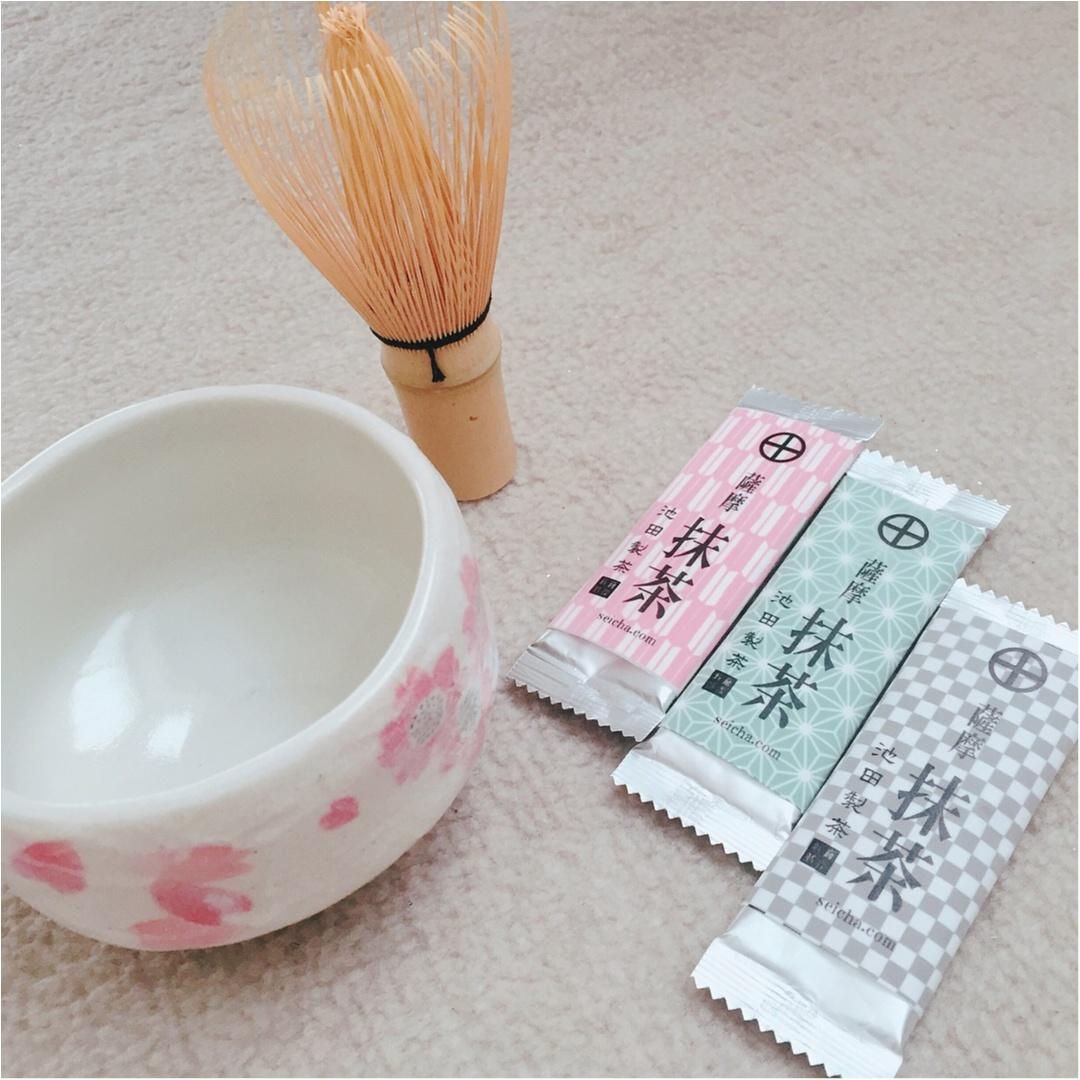 【お家でティータイム】お茶の産地「鹿児島」のお抹茶♡_1