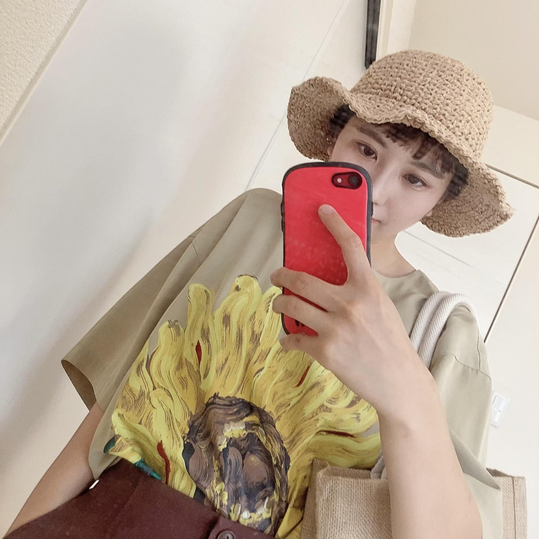 ひまわりシャツで夏を始めて_1