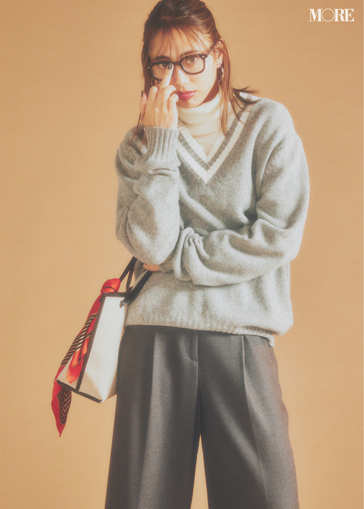 【2020年版】冬ファッションのトレンド特集 - 20代女性の冬コーデにおすすめのニットベストなど最旬アイテム・カラー・柄まとめ_16