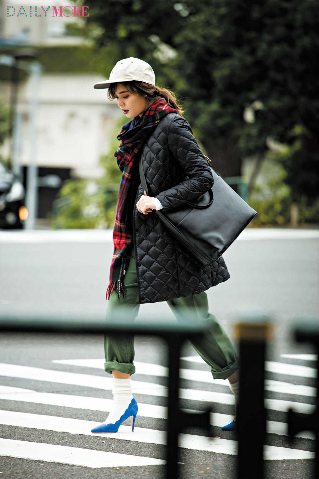 【今日のコーデ/岸本セシル】パンツカジュアルで出かける日曜日は美人な足もとで差をつけて。_1