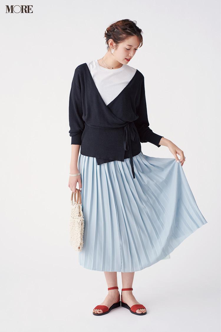 【今日のコーデ】<佐藤栞里>ぺたんこストラップサンダルで大好きなプリーツスカートを今っぽく更新☆_1