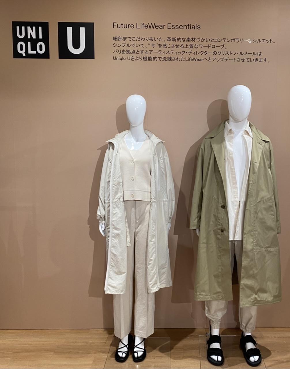 ユニクロ ユーの新作を着たマネキン