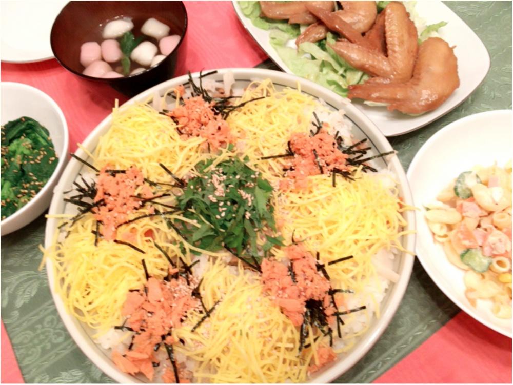 ひな祭りは豪華に♡ちらし寿司をつくったよ(*´꒳`*)_1