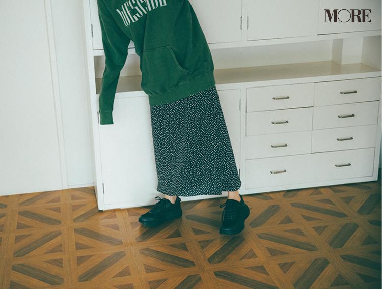 おうちでゆったりも、ちょっとご近所へも、フーディが最強にあざと可愛い説♡ スカートと合わせてみて_3