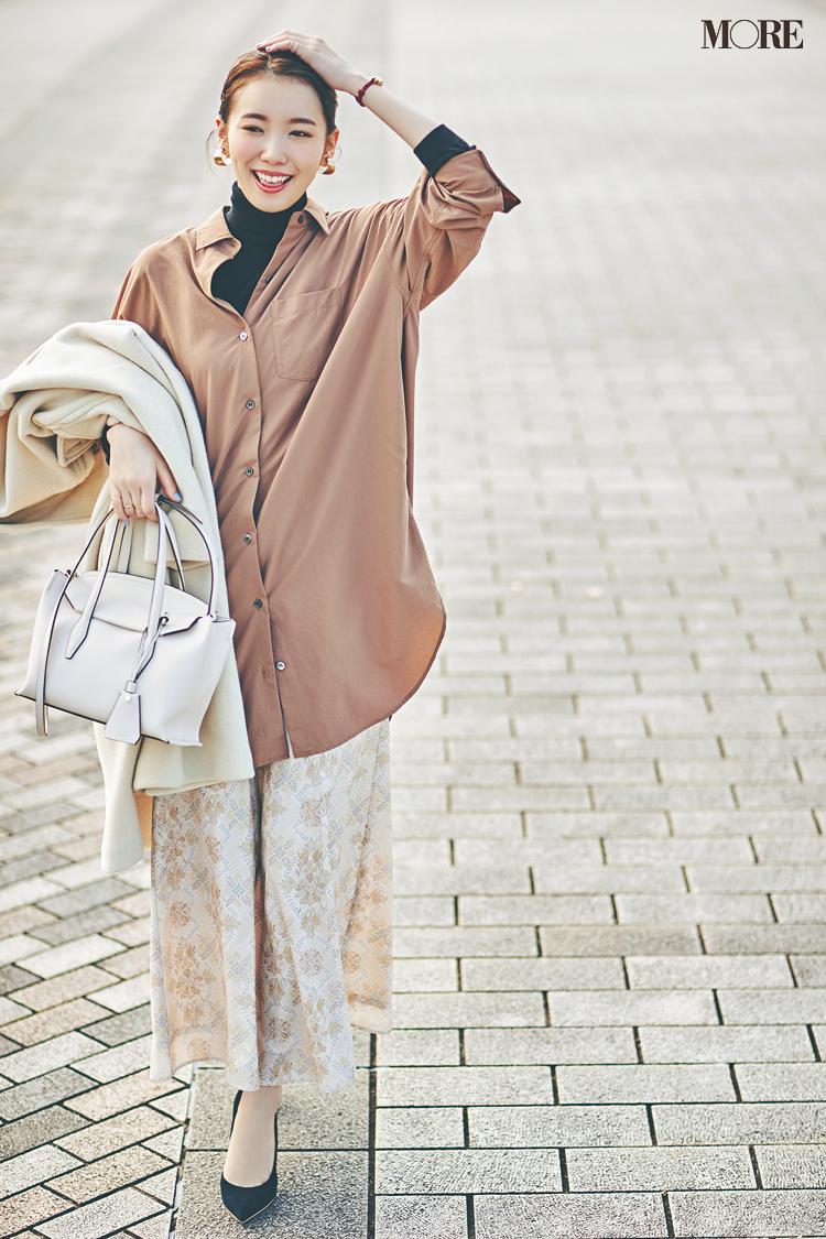 【今日のコーデ】<飯豊まりえ>買いたての淡い花柄スカートを風になびかせて新しい一週間がスタート!_1