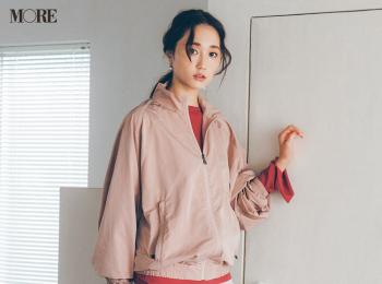 【今日のコーデ】<鈴木友菜>白フレアスカートをナイロンジャケットで可愛くハズして♪