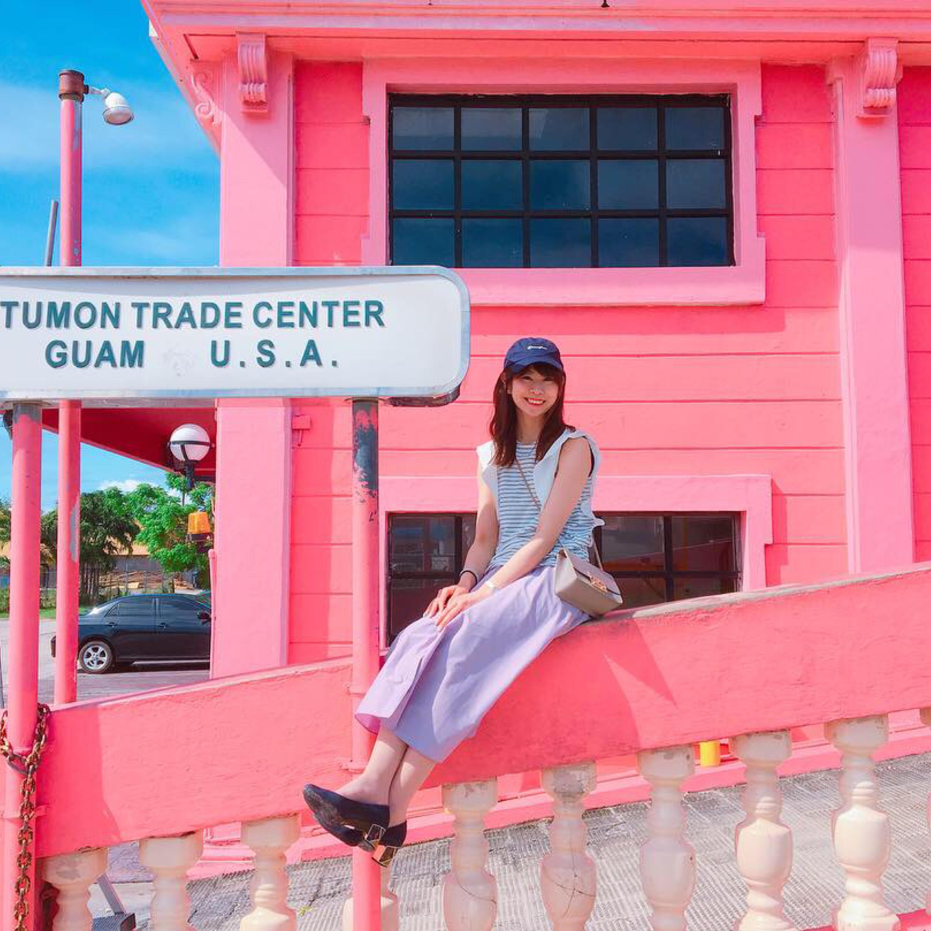 インスタで話題の「ピンクの壁」!グアムで写真映えするタモントレードセンターがオススメスポットです♡_1