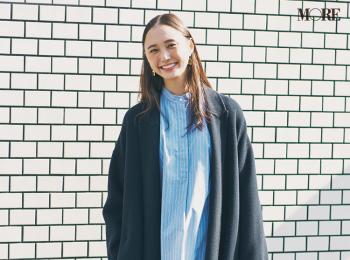 【今日のコーデ】<鈴木友菜>通勤スタイルを旬顔に見せるビッグチェスターコートがお気に入り