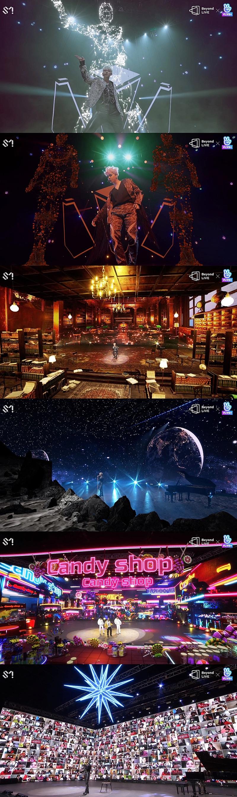「Beyond LIVE - BAEKHYUN:LIGHT」のステージ写真