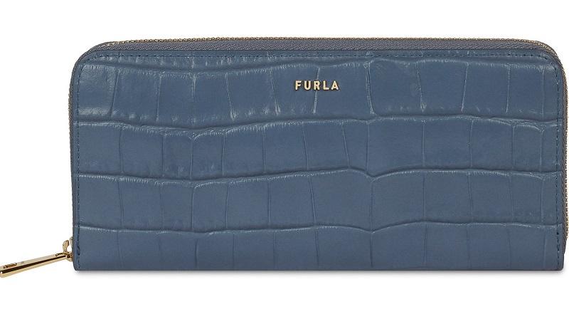 フルラ、ブルーの長財布