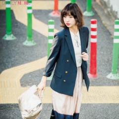 【今日のコーデ/篠田麻里子】ローファースリッパなら楽してきちんと見え。ジャケットをゆるく着たいときにもぴったり♡