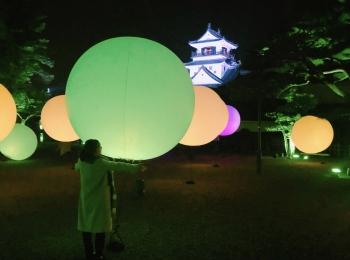 【チームラボ 高知城 光の祭】高知城と光のイルミネーション見に行きました★