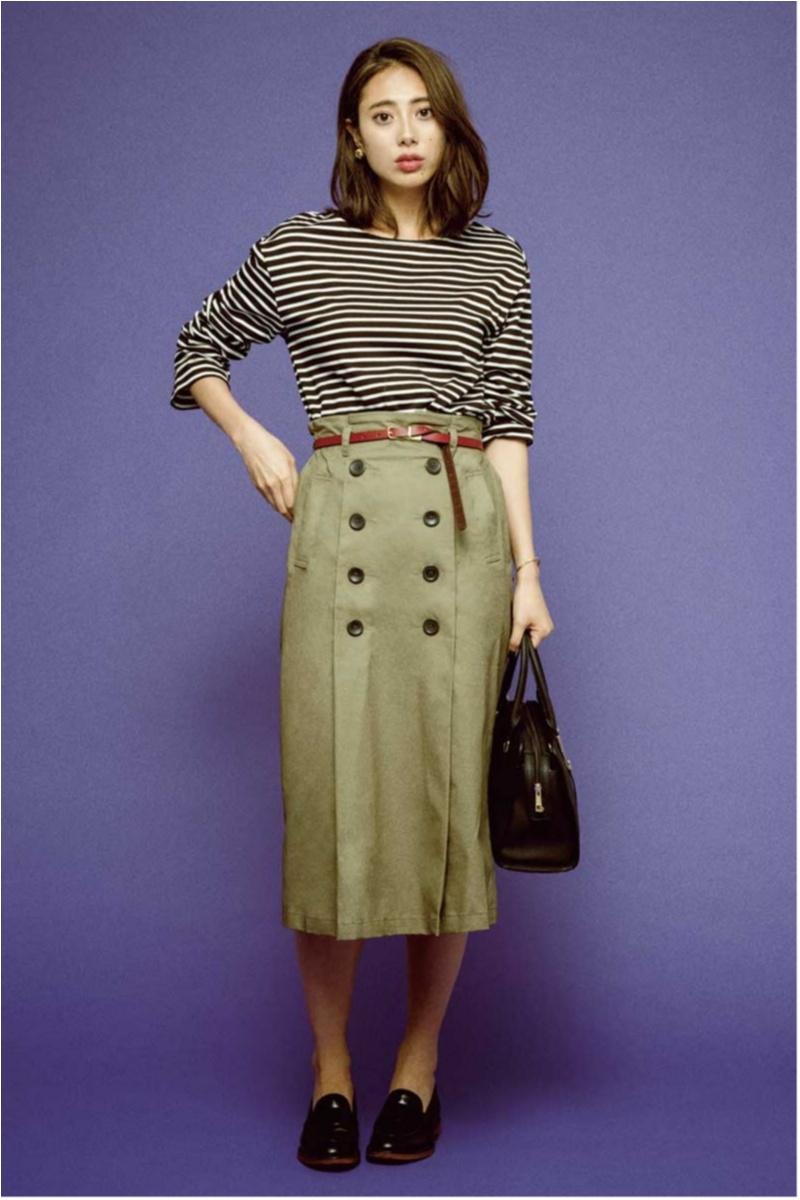 ちょっと上のおしゃれも目指せる! 旬の【トレンチスカート】コーデ15選 | ファッション(2018年秋)1
