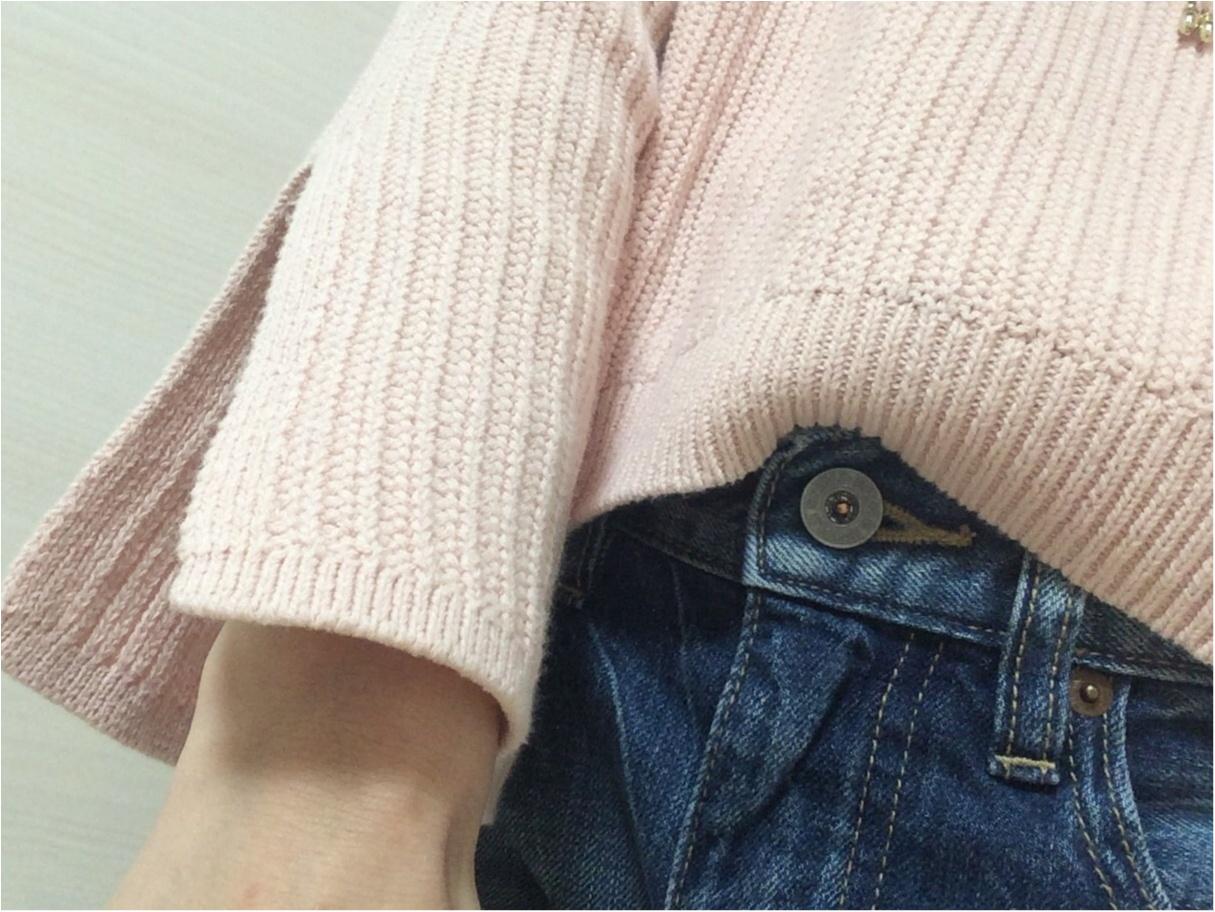 【GU春新作】流行る!馴染みピンクのお袖フレア可愛い♡《カフスリットセーター》_3