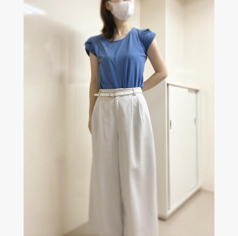 【オフィスコーデ】夏らしさを〜ブルーホワイトorホワイトブルー〜_2