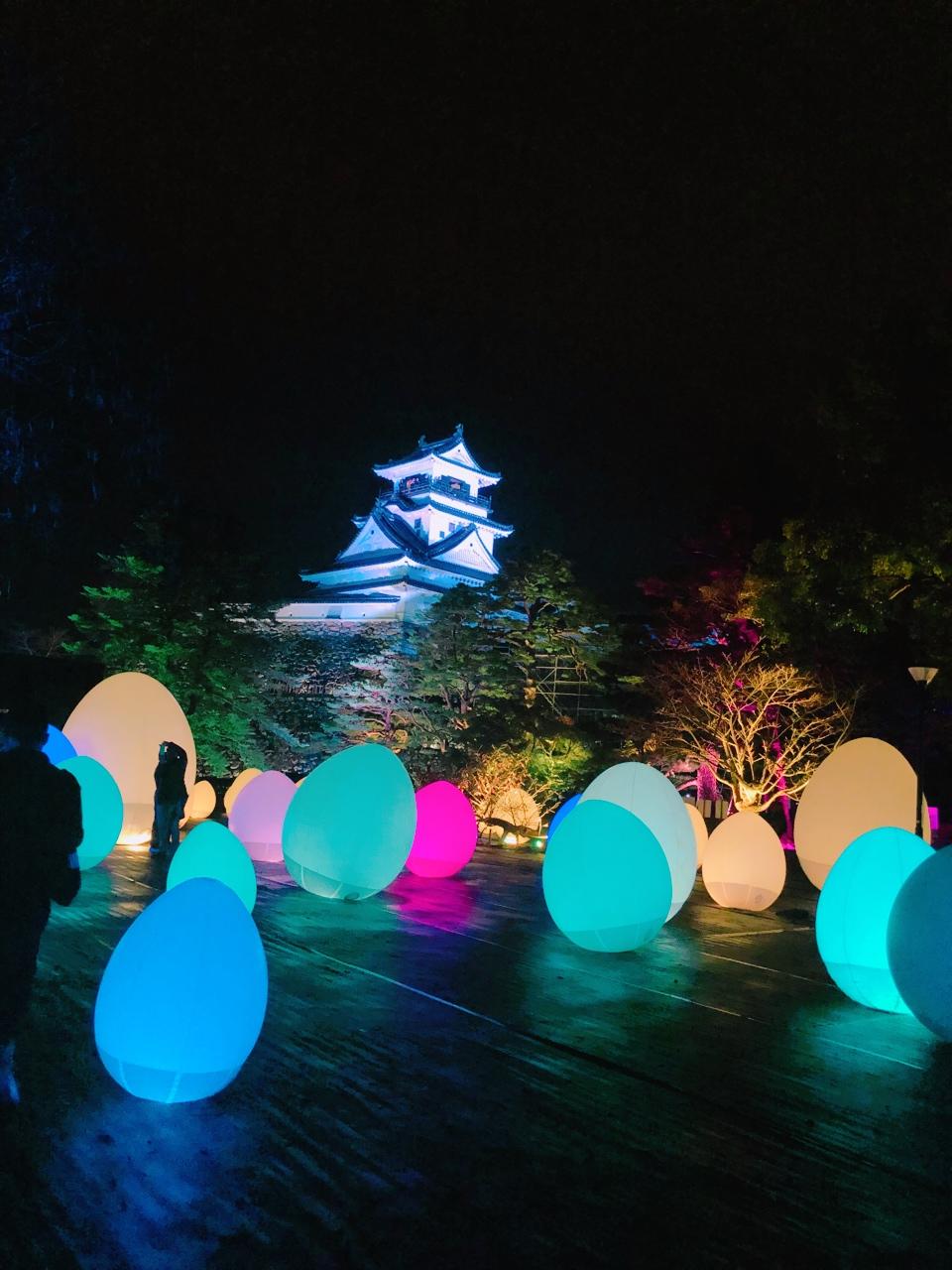 【チームラボ 高知城 光の祭】高知城と光のイルミネーション見に行きました★_1