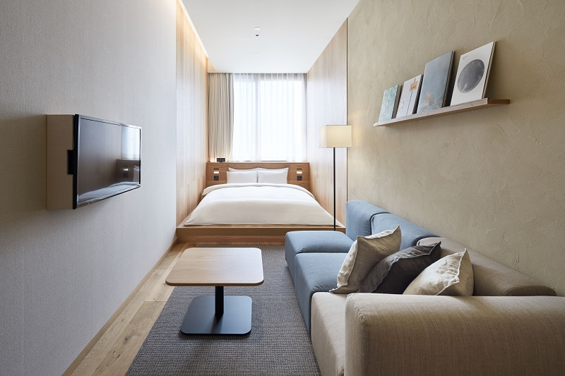 『MUJI HOTEL GINZA』の9タイプの客室、全部見せます♡ 家具からベッド、食器まで。無印良品の名品が使える試せる買える「無印良品 銀座」!_4_3