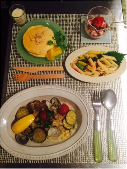 料理教室(^o^)♬【パエリア、パスタ、パンケーキ】_1