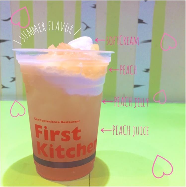 "【FOOD】PEACH♡&PEACH!! ""250円""で味わえる桃感満載ゼリーフロート♡_1"