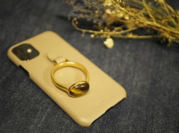 【HASHIBAMI】の《天然石ストーンリングiPhoneケース》がお洒落で可愛い♡