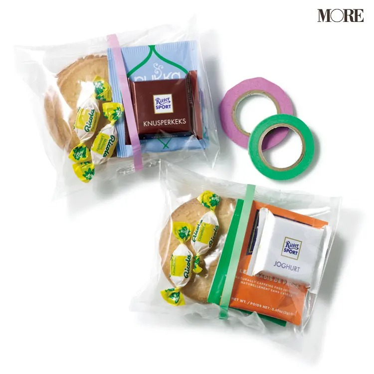プレゼントのラッピングにおすすめの袋とマスキングテープ