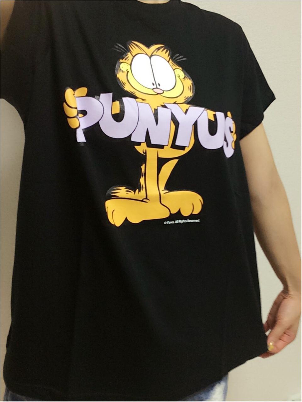 PUNYUS LOVES GARFIELD♡ PUNYUS×ガーフィールド コラボTシャツ_1