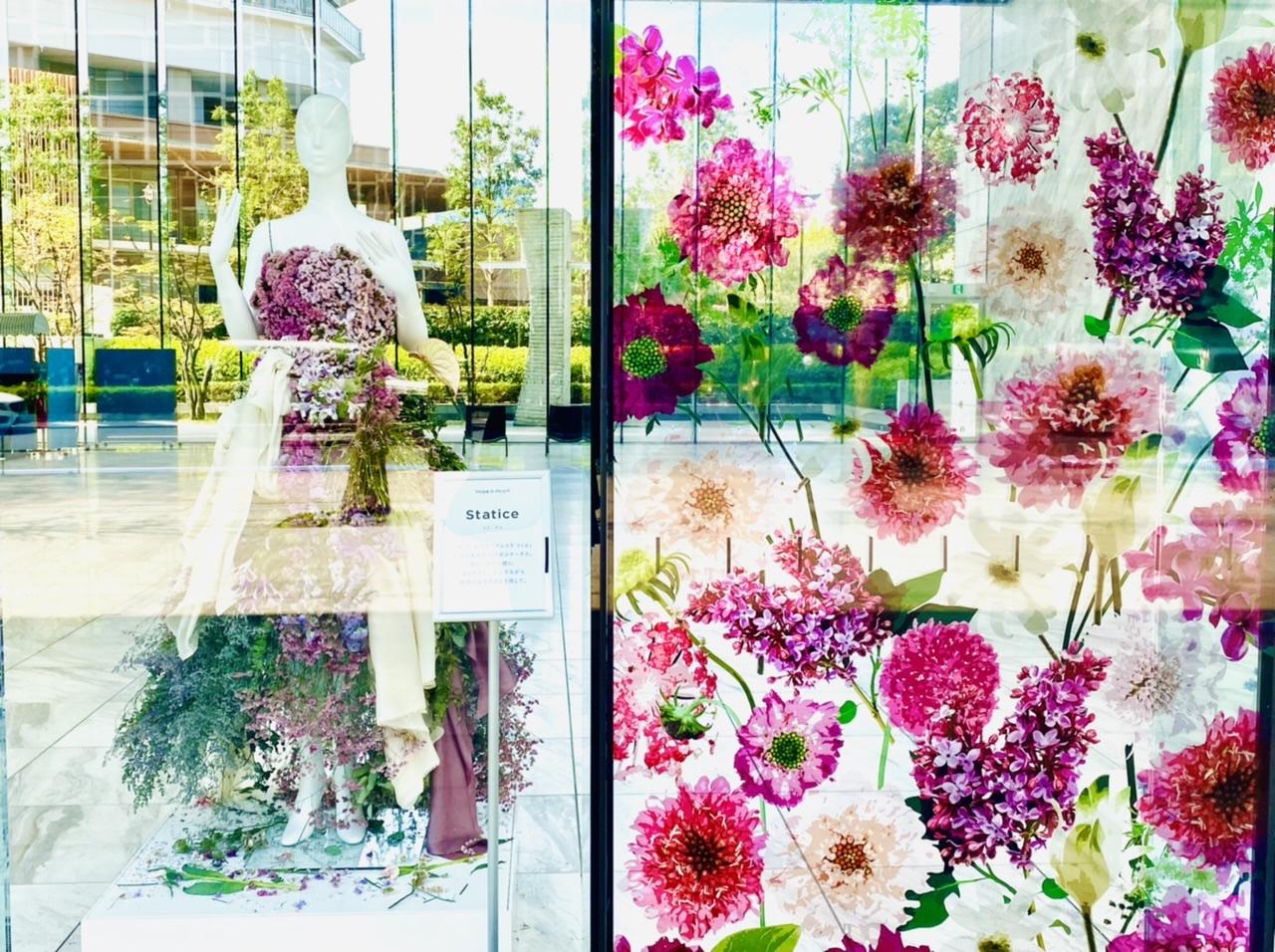 【ロスフラワーアート展】花のドレスが圧巻!春の花束フラワーショップもOPEN♡_5
