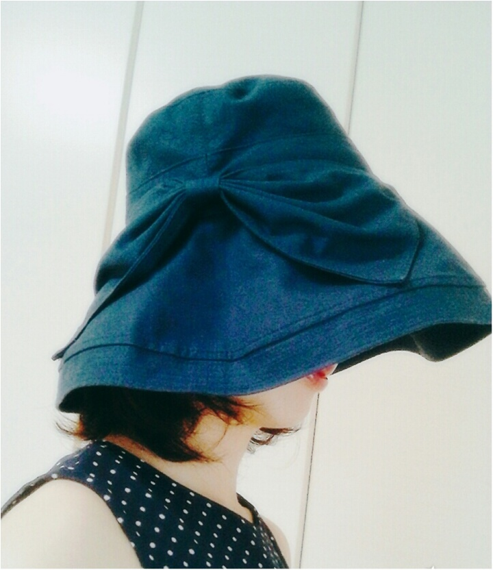 "UVカット機能付き!お洒落なツバ広帽子でUV対策万全♪""_2"