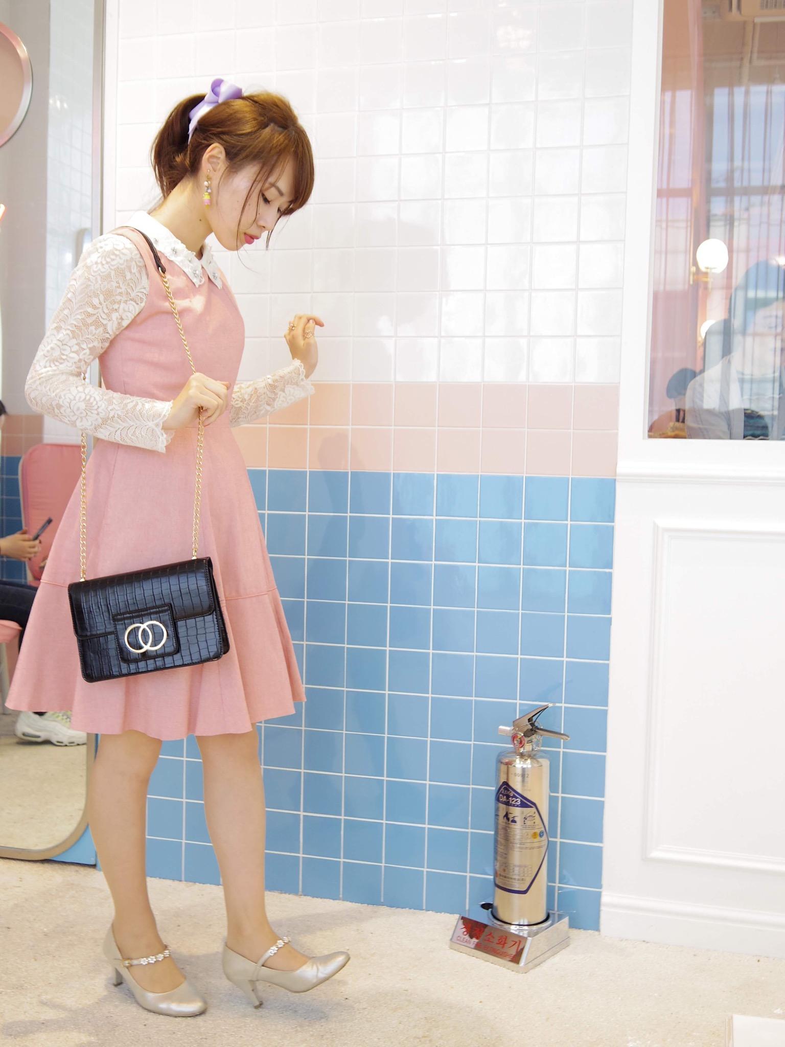 【れいかのヒロインコーデVol.3】韓国カフェ巡りはピンク縛りで♡_3